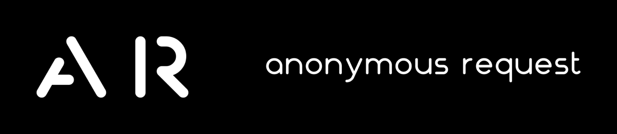 Anonymous Request Logo Black